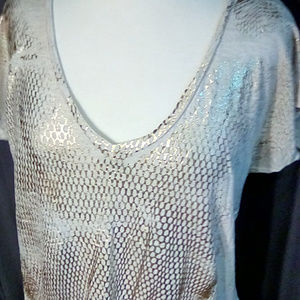 Calvin Klein Size XL t-shirt with gold sparkle